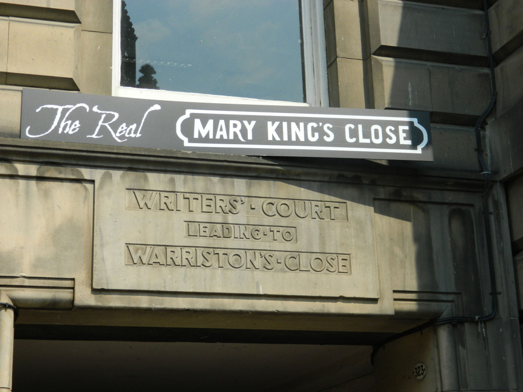 Mary King's Close in Edinburgh, Scotland