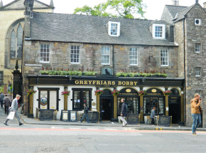Greyfriars Bobby in Edinburgh, Scotland