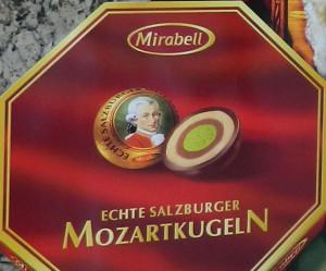Mozartkugeln in Vienna, Austria