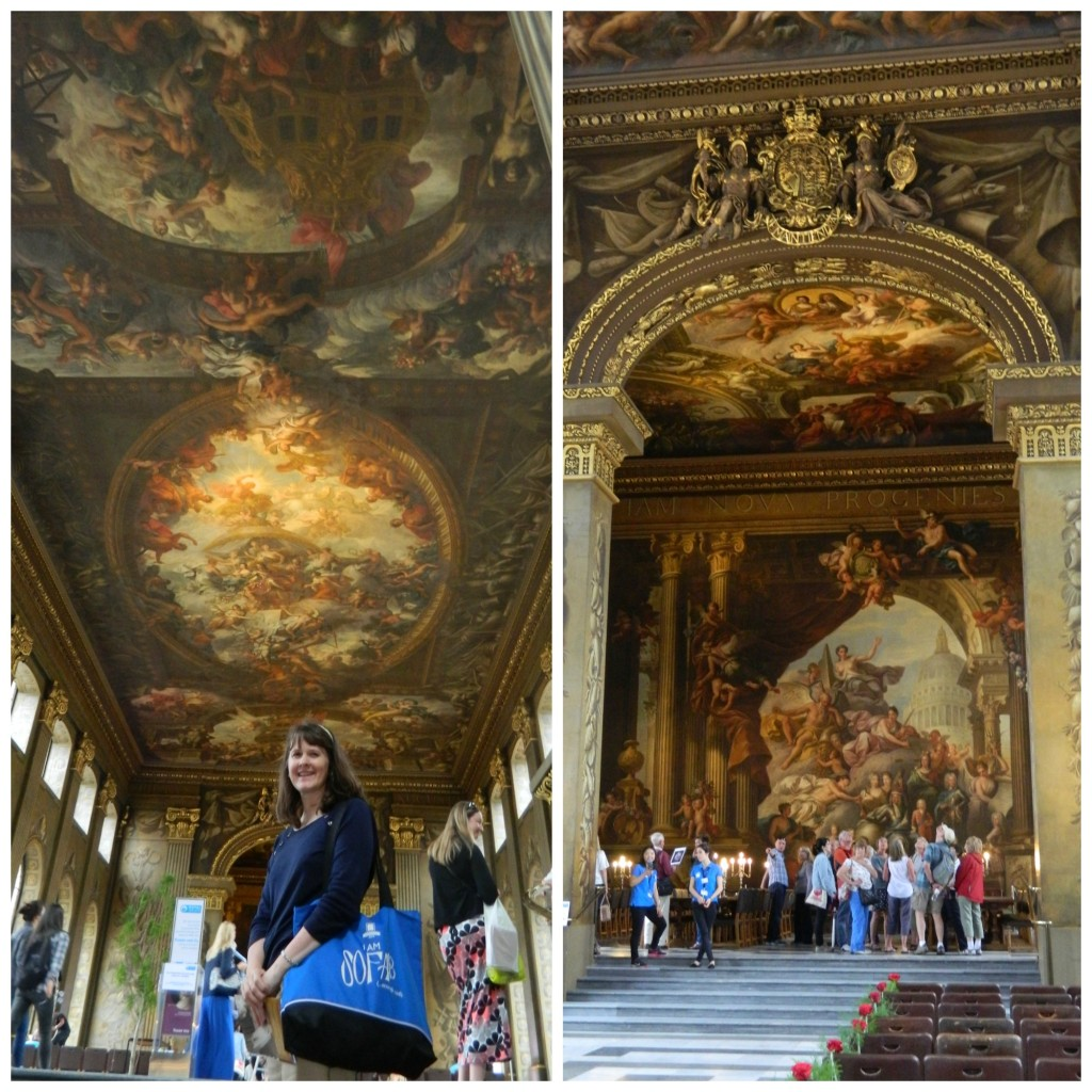 Painted Hall at Old Royal Naval College in Greenwich, England
