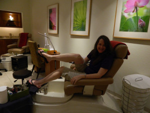Chocolate pedicure at Neu Lotus Spa in Orlando