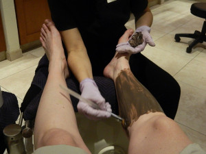 Chocolate pedicure at Neu Lotus Spa