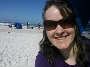 Deborah Brauser at Clearwater Beach, Florida