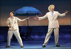 Norbert Leo Butz and John Lithgow in Dirty Rotten Scoundrels, courtesy of Playbill