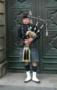 Bagpipes in Edinburgh, Scotland
