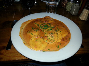 Lobster ravioli at Don Giovanni Restaurant in New York City