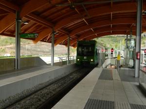 Cog-wheel train to Montserrat in Catalonia, Spain