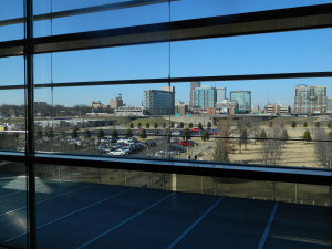View of downtown Little Rock, Arkansas from the Clinton Presidential Center