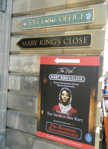 Entrance to Mary King's Close in Edinburgh, Scotland