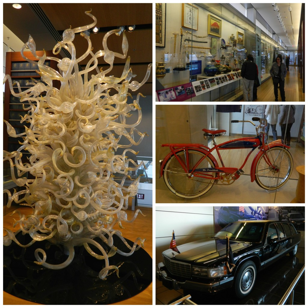 Displays at the Clinton Center