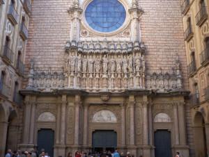 Montserrat Basilica in Catalonia, Spain