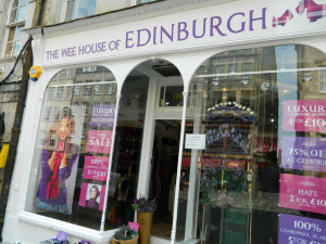 A shop in Edinburgh, Scotland