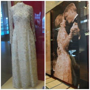 Hillary Clinton's 1997 inaugural gown by Oscar De La Renta at Clinton Center in Little Rock