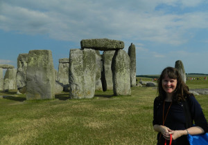 Deb at Stonehenge
