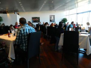 Diners at 42 Restaurant at Clinton Center in Little Rock