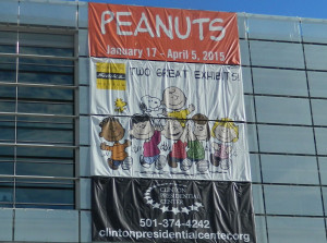 Peanuts Exhibit at the Clinton Presidential Center in Little Rock, Arkansas