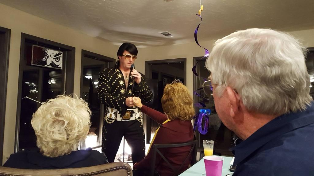 Elvis Presley tribute artist Brent Giddens
