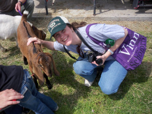 At the petting zoo -- I love me some goats...