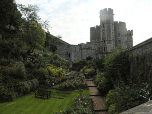 Old moat area at Windsor Castle