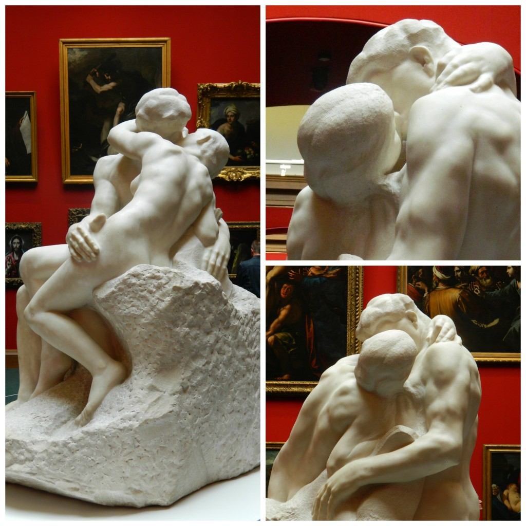 Rodin's The Kiss sculpture at Scottish National Gallery in Edinburgh