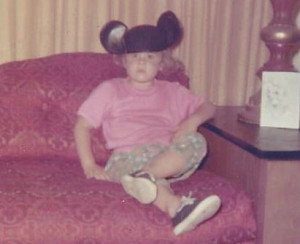 Me in mouse ears but NOT happy