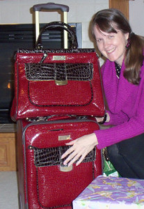 My new Samantha Brown luggage, a Christmas gift