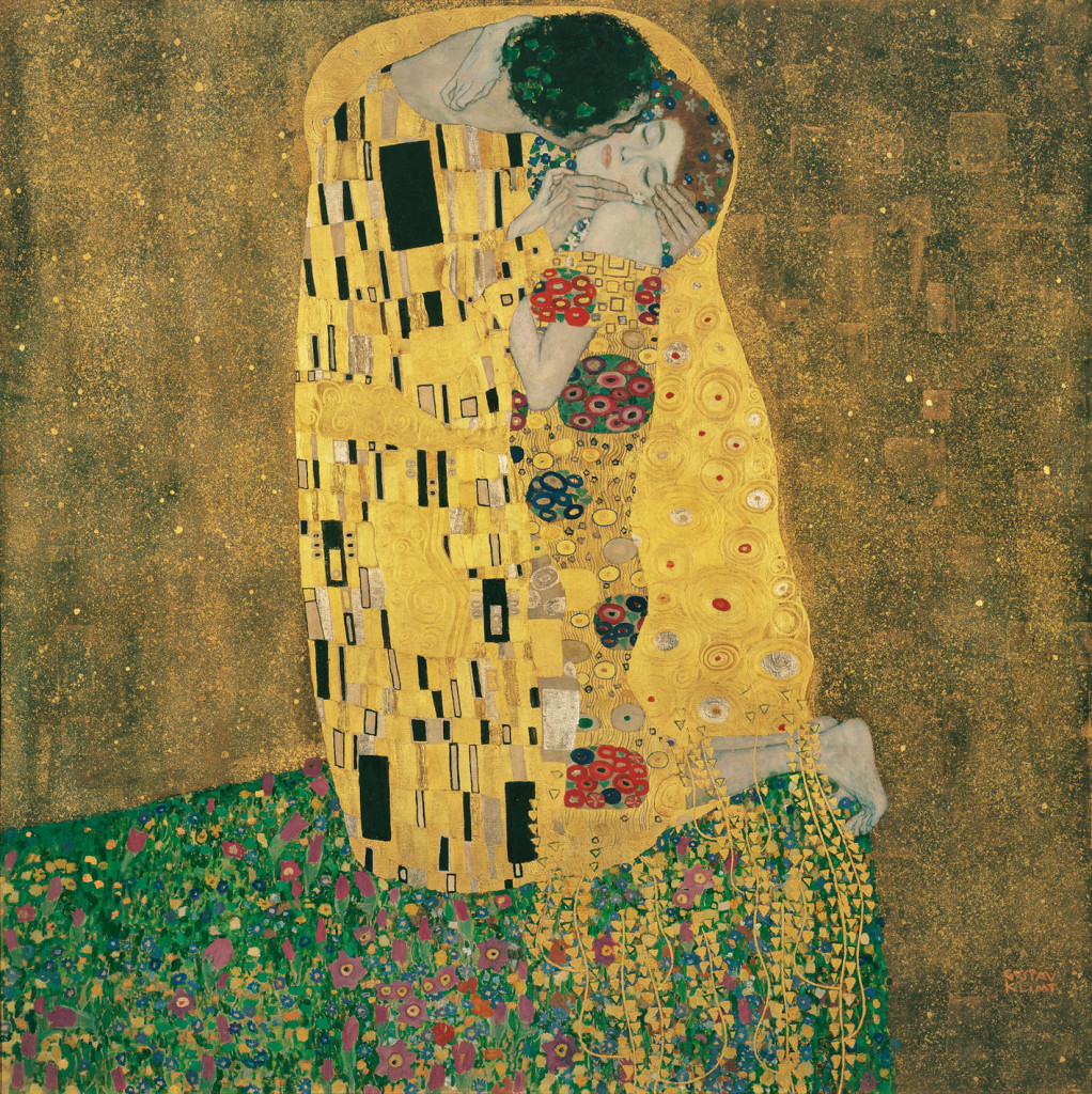 Klimt's The Kiss at the Belvedere Palace and Museum in Vienna, Austria