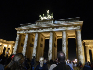 Brandenburg Gate at the Festival of Lights 2014