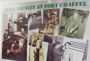 Elvis Presley at Fort Chaffee Barbershop Museum